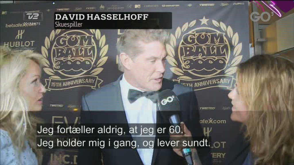 Hasselhoff til Gumball-fest i K&oslash;benhavn  Still