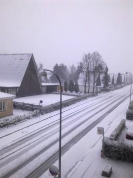 Så kom sneen til Søborg
