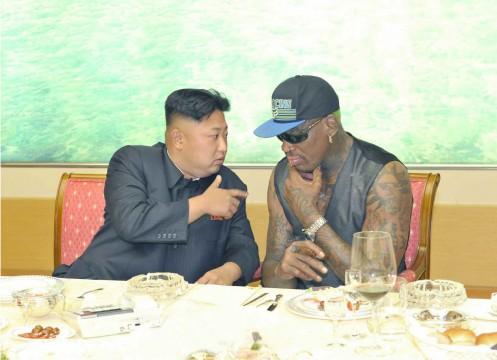 NK leader meets Dennis Rodman
