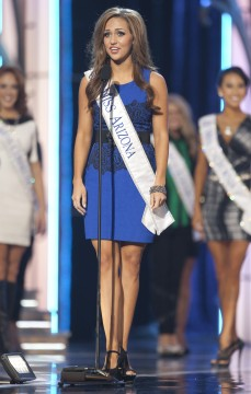 Miss America 2014 contestant, Miss Arizona Jennifer Smestad, competes in a preliminary round during the Miss America Pageant in Atlantic City