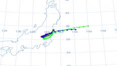 Radioaktiv sky kan nå ind over Japan