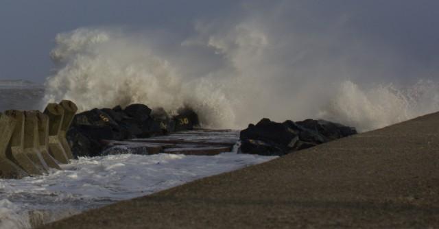 storm ved thyborøn