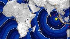 Så hurtigt breder tsunamien sig