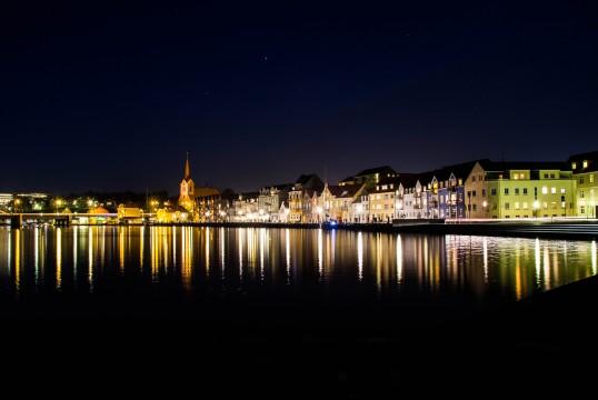 Sønderborg Havn en efterårs aften