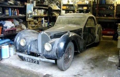 Unik veteranbil fundet i garage finans for Garage jaguar lille
