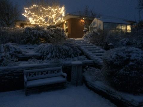 Flot snevejr i Hurup Thy jule morgen
