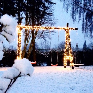 Sne på mit gyngestativ :)